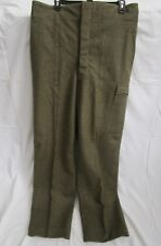 "VTG 1952 MILITARY WOOL ""Battle-Dress"" Pants 37x32.5 button-fly suspender buttons"