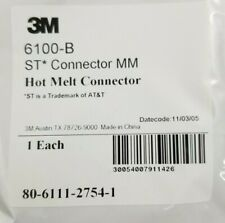 Lot of 41 3M 6100-B fiber optic ST hot melt connector
