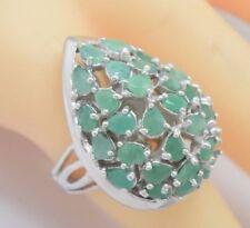 Anelli di lusso con gemme smeraldo verdi Misura anello 16