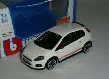 Fiat Abarth Grande Punto 2014 1:43 White by Burago
