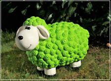 Dekofigur Schaf Susanne grün bunte Tier Figuren für Haus und Garten Dekoration
