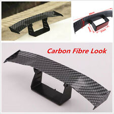 Mini Carbon Fiber Look Car Rear Tail Empennage Wing Spoiler Body Decoration Kit