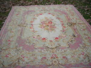 CLEARANCE SALE! GORGEOUS TOP QUALITY VINTAGE 8X10 AUBUSSON TAPESTRY RUG