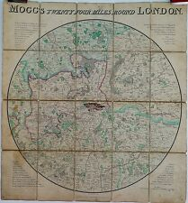 Antique maps, Mogg's twenty four miles round London, 1820