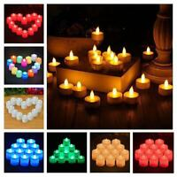 24pcs LED Candles Flickering Flameless Color Flame Tea Lights Wedding Xmas Lamp