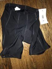Women Padded Bike Shorts 6 Panel Flat Seam Black Small