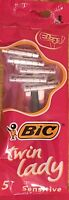 BIC Twin Lady,Twin Blade Razor SENSITIVE SHAVE Quick Dispatch& Next Day Delivery