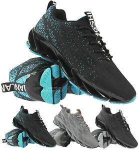 NEW MENS ABSORBING TRAINERS RUNNING SHOES CASUAL SHOCK LACE GYM WALKING SPORTS
