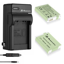 NB-6LH Battery /Wall Charger for Canon NB6LH PowerShot SX530 S95 SD1300 SX520 IS