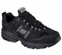 51241 Skechers Mens VIGOR 2.0 TRAIT Leather Athletic Shoes Black