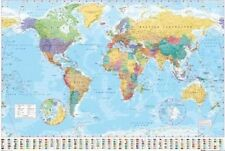 Map Of World Giant poster COUNTRY FLAGS brand new SIZE 100 X 140cm
