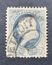 Scott #182 US Postage Stamp Franklin 1 Cent Slate Blue #8