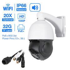 SONY CMOS Wireless 20X ZOOM 1080P 2MP WIFI POE PTZ IP Speed Dome Camera IR Audio