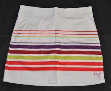 Women's PUMA - Golf Lined Striped Knit Skirt White Red Purple size XS (T12) $65