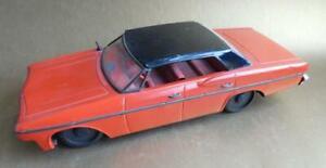 Scarce Vintage SAXO Tin Toy Sedan Friction Power Car Toy 1960s