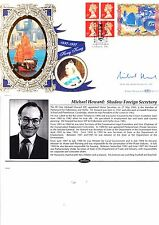 HONG KONG COMMEMORATIVE LABEL 1997 BENHAM FDC SIGNED POLITICIAN  MICHAEL HOWARD