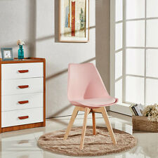 Set of 4 Jamie Tulip Dining Chair Eiffel Inspired Padded Seat Wooden Comfortable