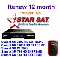 renouvellement 12 mois FOREVER  Starsat SR 2000 HD extreme - SR 90000 HD extreme