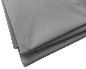 Grey Waterproof Rip Stop Ripstop Fabric Nylon Look Material Cover 150cm Wide