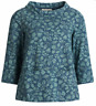 NEW Seasalt Blue Floral Watch Croft Top in Lino Mark Floral Night RRP £49.95