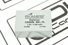 Canon PowerShot G11 Battery cell 1100mAh 7.4V NB-7L Battery Promaster DH5373