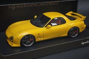 1:18 ignition model IG0294 Mazda RX-7 Speed Aspec Yellow model cars