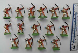 15 BRETONNIAN ARCHERS Plastic Bretonnia Army Bowmen Painted Warhammer 1990s 57