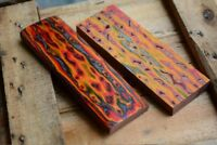 3D Color Wood For DIY Custom Knife Handle Scales Blanks Material 120x40x10mm 1Pc