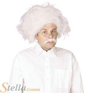 Einstein Wig & Moustache Mad Proffessor Scientist Fancy Dress Costume Accessory