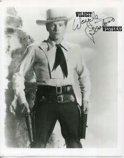WAYDE PRESTON Signed AUTOGRAPH rare VINTAGE Original Photo COLT 45 .45 cowboy