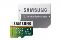 Samsung 128GB 100MB/s U3 MicroSD EVO Select Memory Card w/ Adapter MB-ME128GA/AM