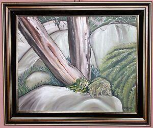 "Original Oil  ""Rock Garden"" Daphne Mitchell- New Zealand  40x51cm (U322)"