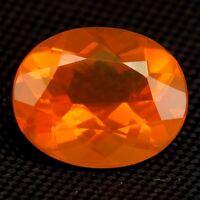 TOP COLOR ORANGE OPAL : 2,30 Ct Natürliche Orange Feuer Opal aus Brasilien