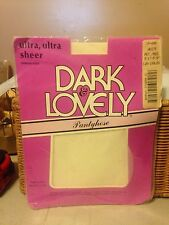 wow! Vintage Dark & Lovely ultra ultra sheer white nude pantyhose size pet/med