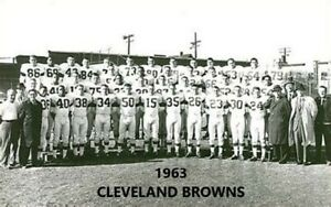 1963 CLEVELAND BROWNS  8X10 TEAM PHOTO FOOTBALL PICTURE NFL