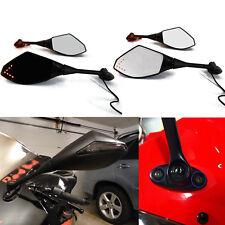 Black LED Mirrors For 2003 2004 2005 2006 2007 2008 2009 2010 Honda CBR 600 RR