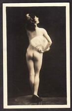 FRENCH REAL PHOTO POSTCARD NUDE SEXY LADY RISQUE EROTIC BIEDERER ? PARIS c1920