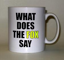 What Does The Fox Say Printed Mug. Fun Joke Secret Santa Xmas Gift Mugs
