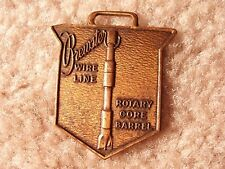 The Brewster Co. Line Wire & Rotary Core Barrel Drill Bit Watch Fob Bbe-1