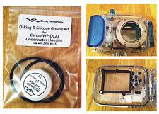 O-RING & SILICONE GRASSO KIT PER CANON wp-dc23 Immersione Subacquea Case Custodia