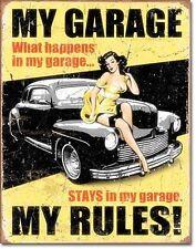 My Garage My Rules (yellow pt) metal sign 410mm x 320mm (de)    UK dispatch