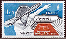 Timbre France LUXE Num Yvert 2012 Tennis 1978 neuf CA18