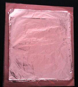 *** 100 Blätter Blattmetall Schlagmetall Farbe: rotgold Kupfer(wie Blattgold)