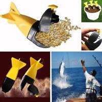 1PC Long Shot Fishing Carp Bait Rocket Feeder Float Bait Holder Fishing Tac ME
