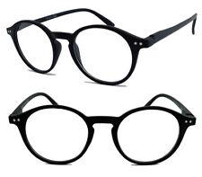 Runde Retro Lesebrille Herren Damen Vintage Pantobrille Nerdbrille schwarz LK41