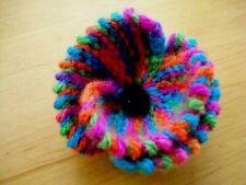 Rainbow Bridge Knitted Poppy Brooch Handmade Unique Gift Pet Loss etc FREEPOST