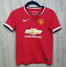 Nike Dri-Fit Boys Size S Manchester United Soccer Jersey 2014 Red #27