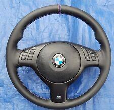 BMW E39 E46 E38 E53 M3 Multfunction Leather MTech Sport Steering Wheel 99-05