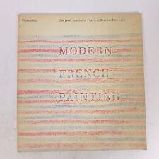 Vintage 1962 Modern French Painting Wildenstein Exhibition Art Collection Book