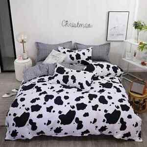 Cow Duvet Cover Set Black White Kids Quilt Cover Bedding Set